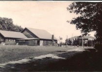 Lodge from resort road 1943