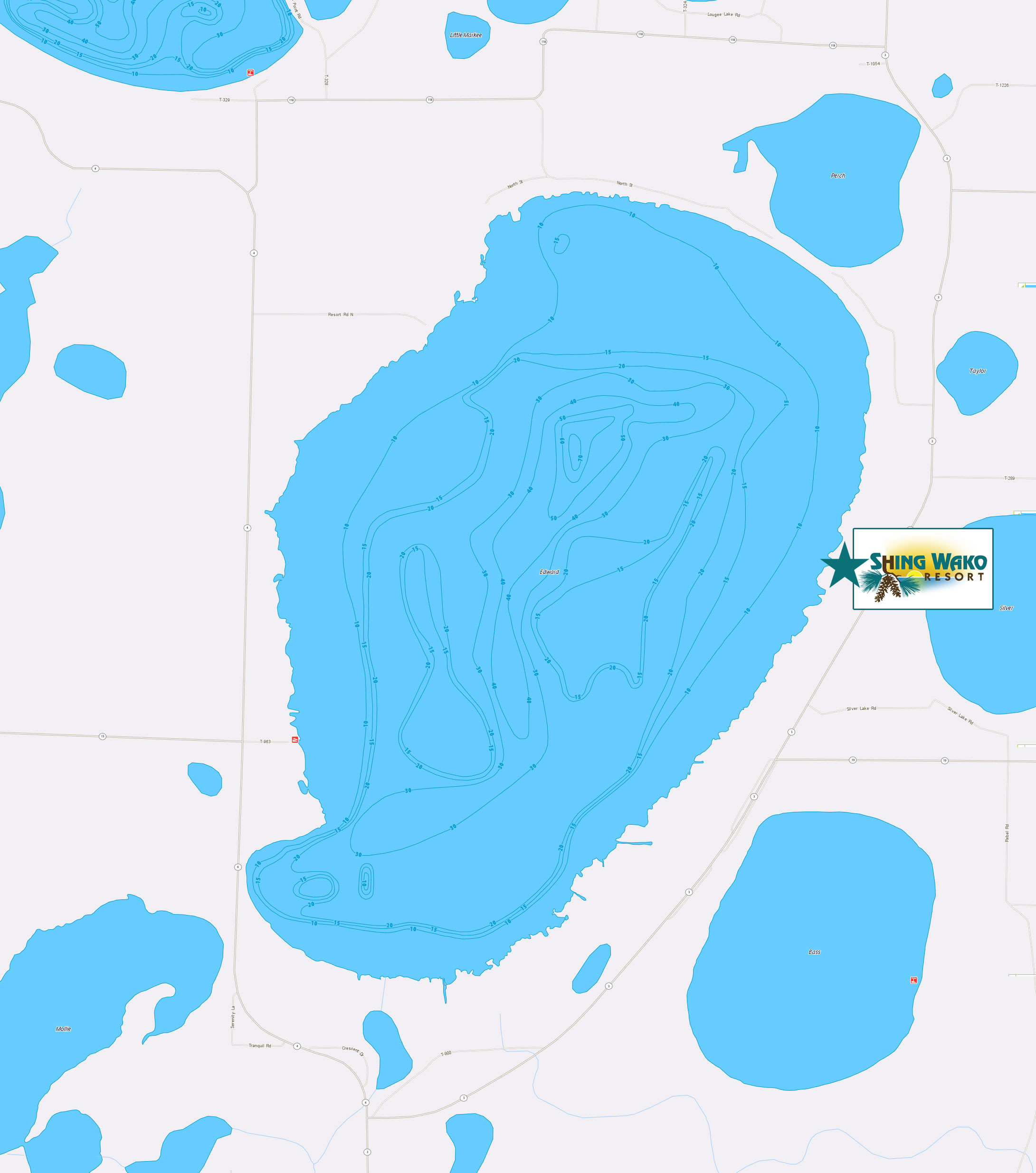 Lake Edward Map Fish Explore Lake Edward Fishing Brainerd MN - Pretty lake map